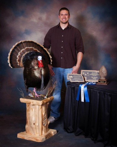 A national award-winning taxidermist